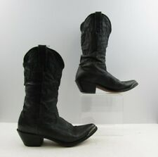 Ladies Durango Black Leather Pointed Toe Cowboy Western Boots Size: 6 M