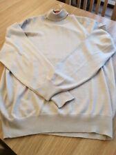 Men's clothes. Beige Greenwood's long sleeved roll neck jumper. M