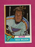 1974-75 OPC # 284 BLUES RICK WILSON  ROOKIE NRMT-MT CARD (INV#6703)