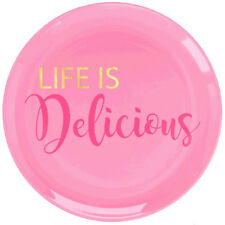 ADULT BIRTHDAY Life is Delicious SMALL PLASTIC PLATES (20) ~ Party Supplies Cake