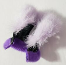 MONSTER HIGH DOLL CLOTHES GHOULS ALIVE CLAWDEEN WOLF PURPLE BLACK FUR JACKET