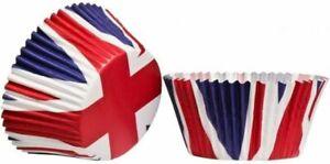 Premier Large Cupcake Cases Set of 60 Union Jack Design Multi Colour