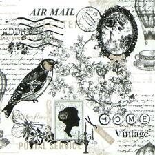4x Paper Napkins for Decoupage Vintage Poetie Decopatch Craft