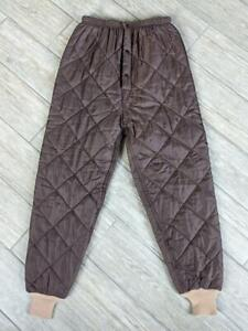 vintage QUILTED nylon HUNTING pants 32x32 34x32 brown RED HEAD insulated