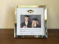 University/Uni Graduation Record Photo Frame/Gift Silver Edge & Graduation C