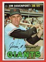 1967 Topps #441 Jim Davenport NEAR MINT/MINT San Francisco Giants FREE SHIPPING