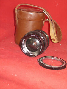 Vintage Optomax 28mm Lens - M42 Fit with Case & Rare Miranda PM Mount Adapter