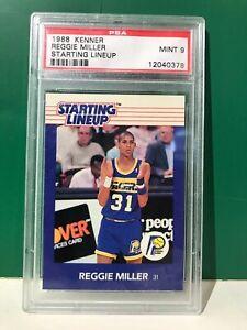 1988 Reggie Miller Starting Lineup Card (SLU) PSA 9 MINT Short Print