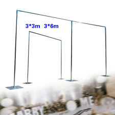 Telescopic Heavy Duty Pipe and Drape Kit Wedding Backdrop Stand SALE 3x3m/3x6m