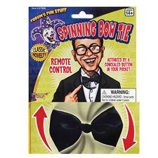 Black Remote Control Spinning Bow Tie Bowtie Funny Joke Fancy Dress