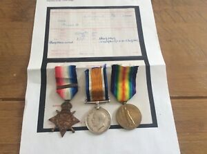 ww1 Mons trio and clasp to L/9541 Pte j b Ives, 4th Middlesex Regiment