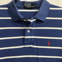 🌴Men's Ralph Lauren Short Sleeve Polo Shirt Medium M Striped🌴 Free Shipping