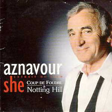 CD SINGLE Charles AZNAVOUR - Soundtrack : Coup de foudre a Notting hill She 2-Tr