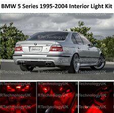 RED PREMIUM BMW 5 SERIES E39 SALOON INTERIOR FULL LED BULBS LIGHT KIT SET