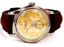 Vintage Eterna Automatic Copper Bezel Swiss Leather Band Unisex Watch