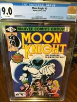 Moon Knight #1  CGC 9.0!!! White Pages!!! Marvel 1980   Origin issue   NICE!!!!!