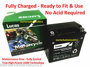 Genuine Lucas LYTX14BS AGM Battery Replacement for Mercedes Benz A0009829308