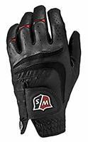 Wilson Staff Men's Grip Plus Golf Glove, Left Hand, Black, Large
