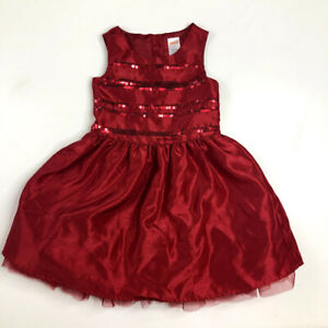 Gymboree Girls Red Christmas Dress 4 Special Occasion Very Merry