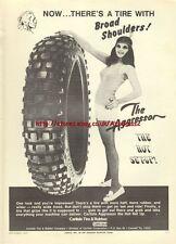 Carlisle The Aggressor Tire Motorcycle 1973 Mag Advert #761