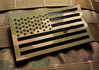 """Standard Infrared Multicam IR US Flag Patch 3.5x2"""" Special Forces Green Beret"""