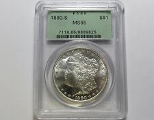 1880-S MORGAN SILVER DOLLAR ~ NICE COIN ~ PCGS MS65 Combined Shipping LOT K16