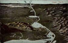 Ägypten Egypt ~1910 Canal Kanal Plan No. 1 Rare Vintage Postcard alte Postkarte