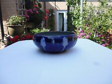ROYAL DOULTON ART NOUVEAU STONEWARE BLUE GLAZED BOWL - SIGNED - CIRCA 1924