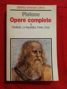 Platone Opere Complete Vol. 6 BUL Laterza 1996