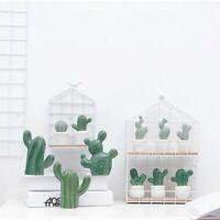 Nordic Creative Simulation Ceramic Cactus Decoration Living Room Cabinet Crafts