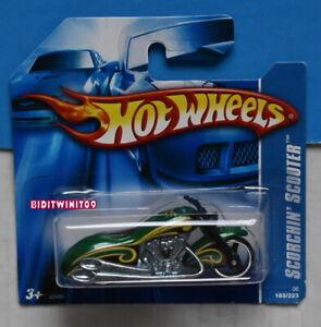 Hot Wheels 2006 Scorchin' 'Scooter #183 Vert Court Carte Avec +