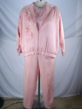 Southern Stitches and More Jacket Top Pants 3 Piece Set Womens Size Medium 8 10