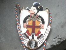 Karnevalsorden Carnaval d'Eupen 1967 Mickey Mouse Enamel émail Prinz Herbert I