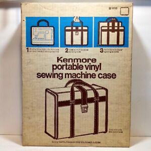 Vintage SEARS KENMORE Vinyl Portable Sewing Machine Case - Model 209760