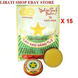 15 Packs-Golden Star Aromatic Balm (3g) - Natural Remedy Essential Oils_USPS