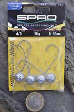 Spro Round Jighead Jigkopf Jig 22 mit Gamakatsu Haken Twister Shad Gummiköder.