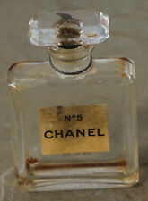Early VINTAGE Chanel No. 5 Cut Glass Top 1/2 OZ Bottle EMPTY
