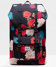 Herschel Little America Vintage Floral Travel Hiking Laptop Carry Backpack Bag