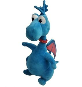"Doc McStuffins Stuffy Blue Dragon TALKING 14"" Plush Doll Disney Just Play Toy"