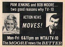 1973 Tv Ad~PAM JENKINS~BOB MOORE~WTAJ NEWS in ALTOONA,PENNSYLVANIA~channel 10