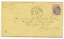 NEWARK NJ JUL 12 1863 #65 cover addressed to Lt Com'd James Parker USS MINNESOTA