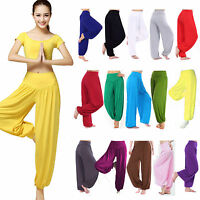 Women Baggy Harem Pants Trousers Aladdin Hippie Ali Baba Yoga Gym Loose Leggings