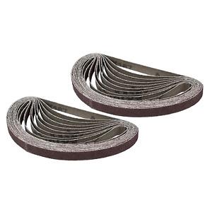 POWERTEC 401804 1/2-Inch x 18-Inch 40 Grit Aluminum Oxide Sanding Belt, 20-Pack