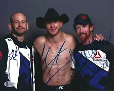 Donald Cowboy Cerrone Greg Jackson + Signed UFC 8x10 Photo BAS Beckett COA Auto