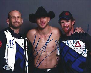 Donald Cowboy Cerrone Greg Jackson + Signed UFC 8x10 Photo BAS Beckett COA Auto