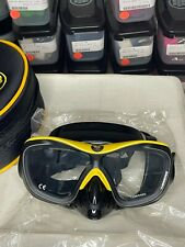 Poseidon 3D Mask ThreeDee Doubleglass Scuba Snorkeling Black/Yellow Dive Mask