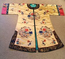 Stunning vintage 1920's Gold Silk Embroidered Chinese Robe. (One size only)