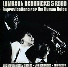 LAMBERT, HENDRICKS & ROSS ‎– IMPROVISATIONS FOR THE HUMAN VOICE (NEW) CD