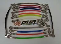 OHA Stainless Steel Braided Rear Brake Line Kit for Honda VFR400 R NC21 85-87