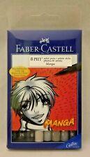 Faber-Castell Pitt Artist Pen Manga Basic Wallet of 8 167107T India Ink 529